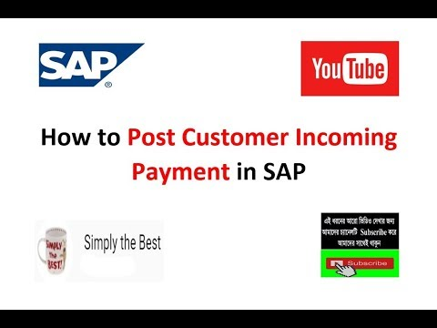How to Post Customer Incoming Payment in SAP  T-Code : F-28