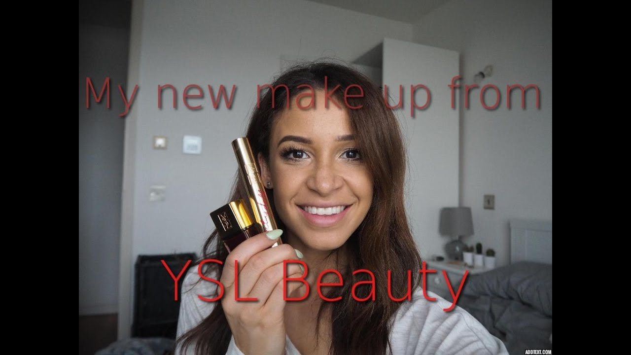 My New Make Up From YSL Beauty - YouTube