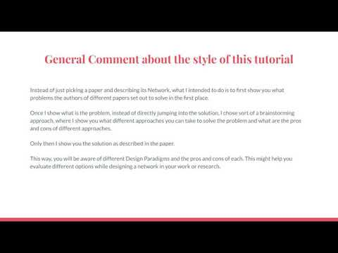 General Comment on the Style of this Tutorial | CNN | Object Detection | EvODN