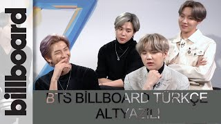 (TÜRKÇE ALTYAZILI) BTS billboard röportajı