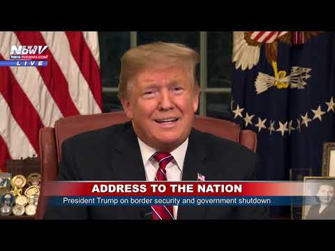 ADDRESS TO THE NATION: President Trump on Border Security, Gov't Shutdown from the Oval Office (FNN)
