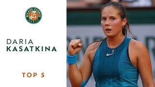 Daria Kasatkina - TOP 5 | Roland Garros 2018