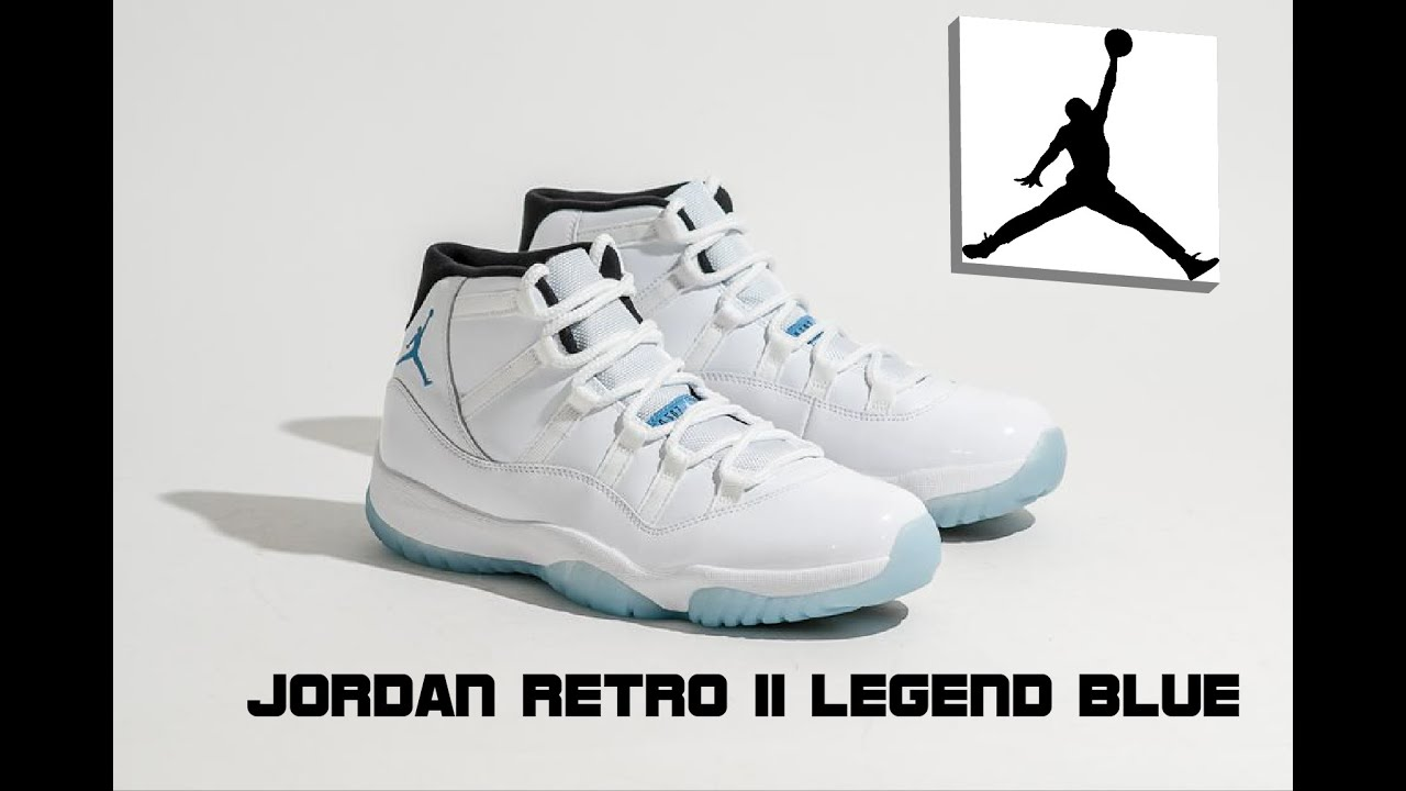 Jordan Retro 11 Legend Blue (Unboxing and Review) space jam, cool grey,  gamma blue, concord