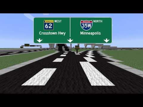Minecraft Freeways: Crosstown Commons I 35W, MN 62