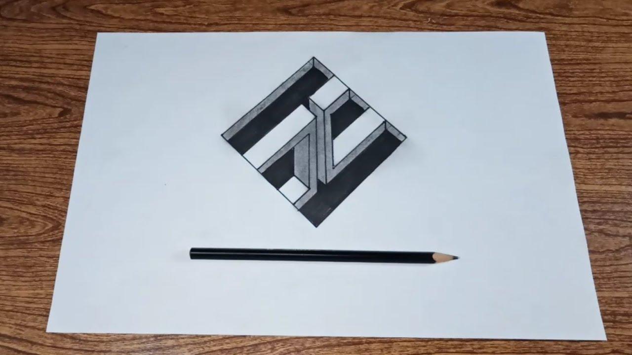 Cara Mudah Menggambar 3d Di Kertas Cara Paling Mudah By Simple Drawing Tutorial