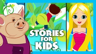 Stories for Kids (Moral Stories) | Three Little Pigs Story, Rapunzel, Jack and The Beanstalk