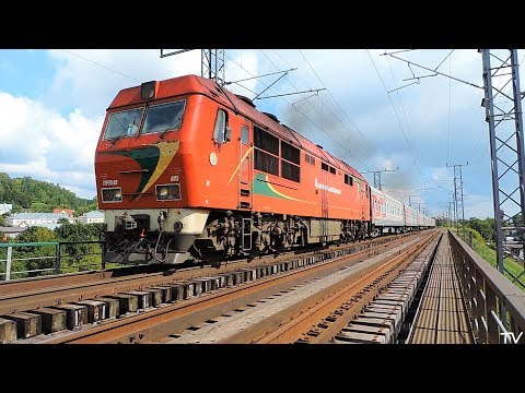 ТЭП70БС-005 с поездом Москва - Калининград в Науйойи-Вильня
