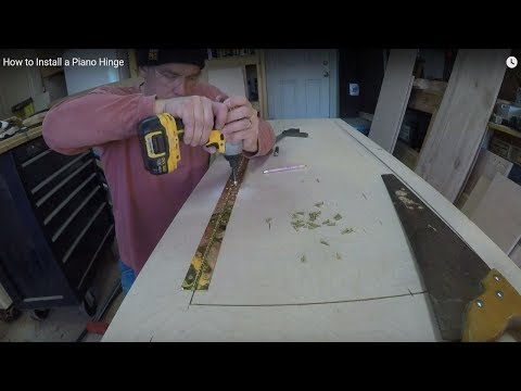 How To Install A Piano Hinge Youtube