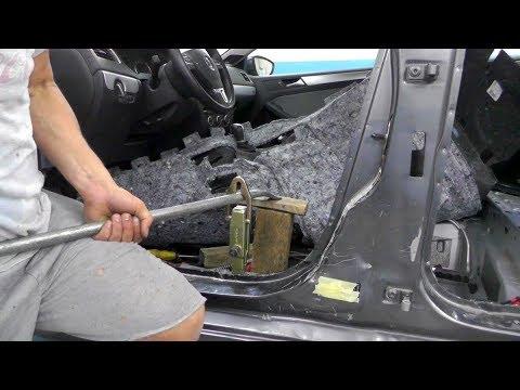 Volkswagen Jetta Hybrid.  Вытяжка средней стойки. Часть первая.