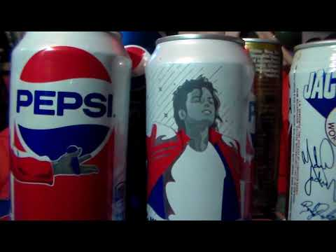 michael jackson new pepsi cans and bottles