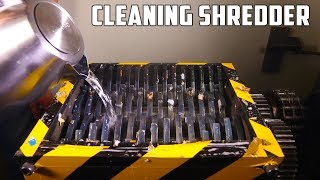 Cleaning The Shredder after Shredding Stretch Armstrong | PressTube