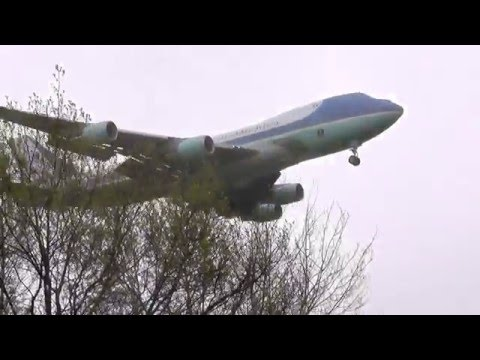 Air Force One, Obama, Hannover, Germany