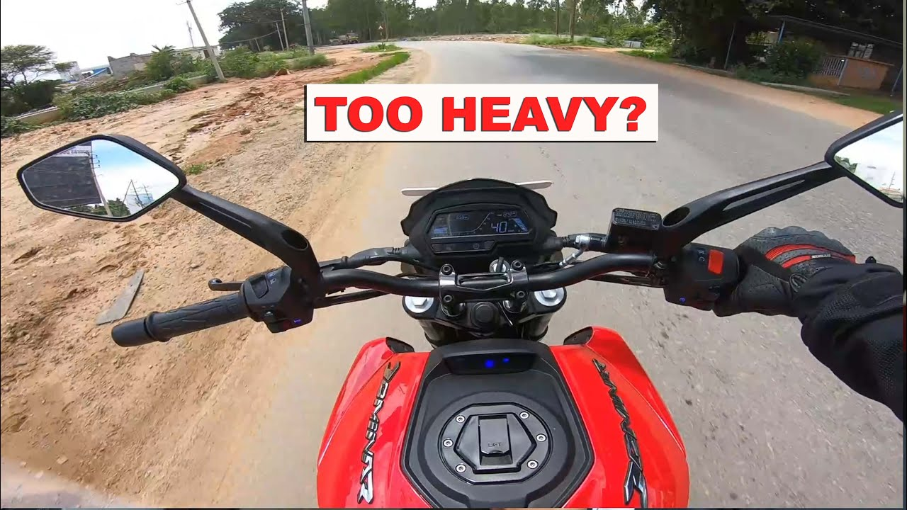 IS BAJAJ DOMINAR 250 A VERY HEAVY BIKE?