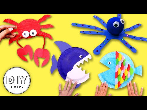 4 FANTASTIC SEA ANIMAL Crafts to enjoy this summer | Fast-n-Easy | DIY Arts & Crafts for Kids