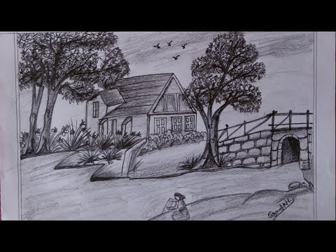 How to draw beautiful landscape scenery step by step