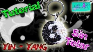 ♥ Tutorial: Yin Yang de gomitas o ligas (sin telar) ♥