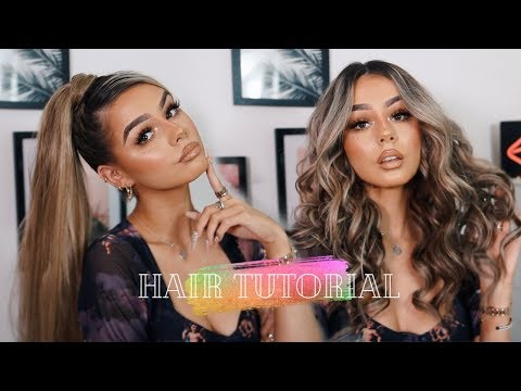 2 HAIRSTYLES WITH EXTENSIONS (EASY) | SHORT HAIR TRICKS AND TUTORIALS