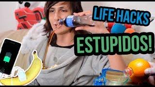 Probando Life hacks ESTUPIDOS!