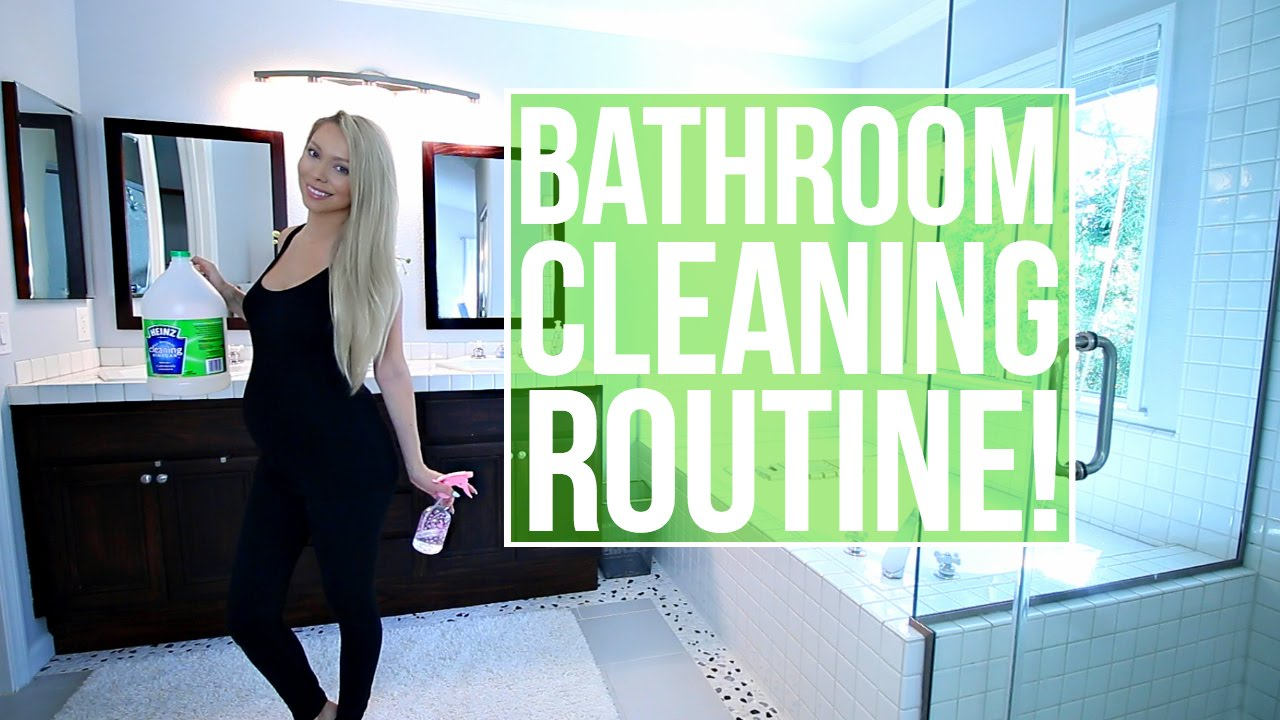 How To Clean Your Bathroom How To Clean Your Bathroom My Bathroom Cleaning Routine  Youtube