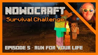 MINECRAFT Survival Challenge - EP 05 - RUN FOR YOUR LIFE - Minecraft Let's Play!