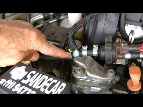 Vapor de gasolina Sandecar instalado em um C4 Pallas 2.0