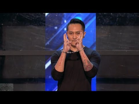 America's Got Talent 2017 Demian Aditya Incredible Escape Artist Act Full Audition S12E01