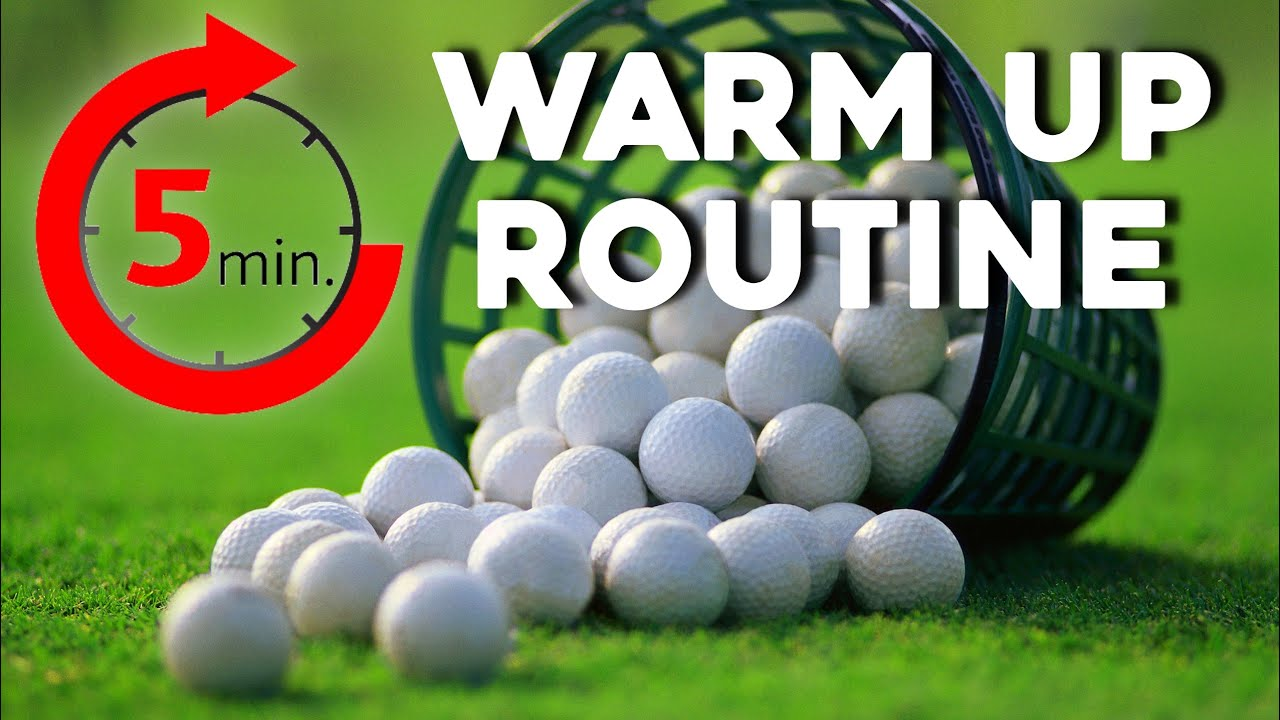 How to warm up before PLAYING GOLF | 5 minute session