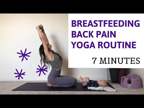 Back Pain Yoga Routine Relief for Breastfeeding Moms