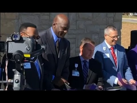 Michael Jordan Fights Back Tears During Opening of Hometown Health Clinic