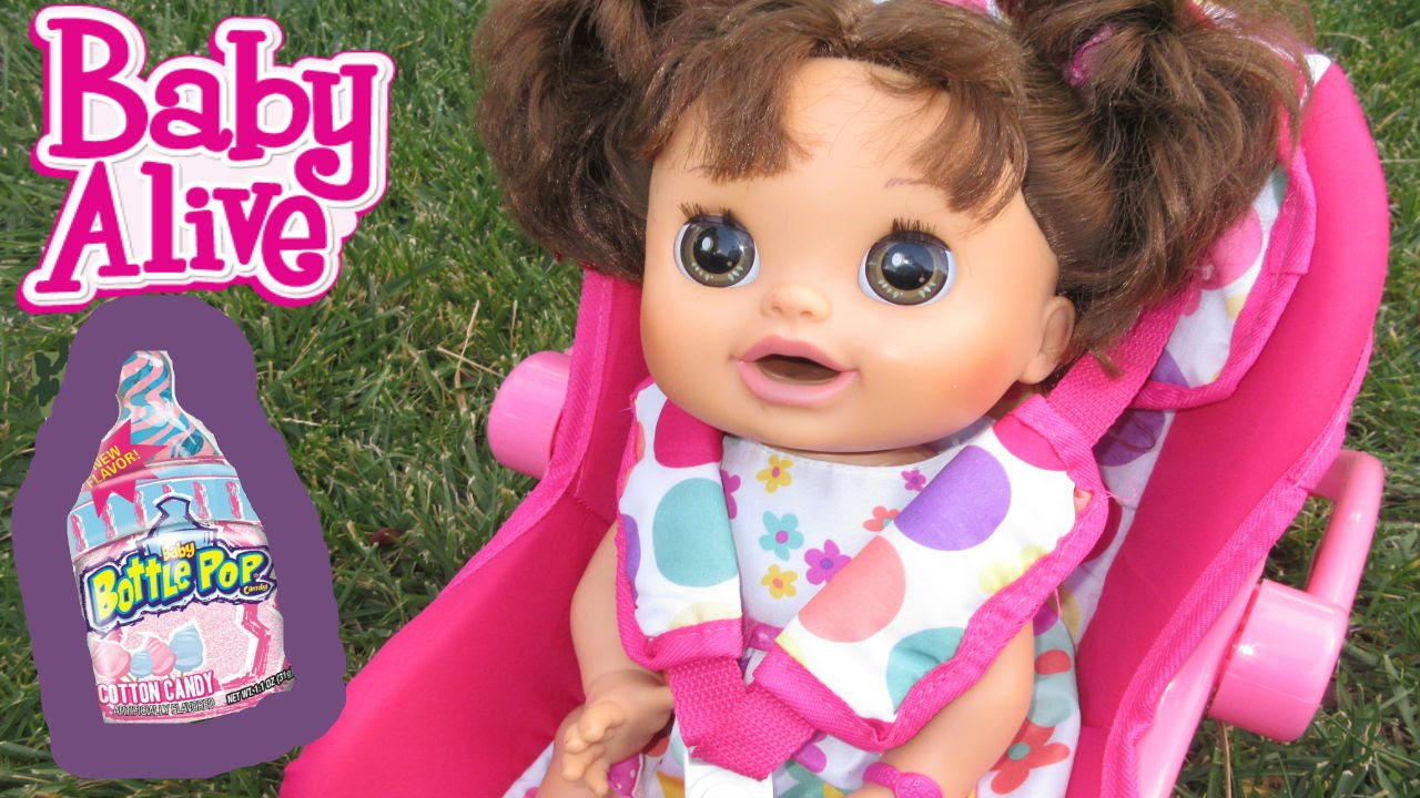 Baby Alive Outing With Pumpkin Baby Bottle Pop At Park Youtube