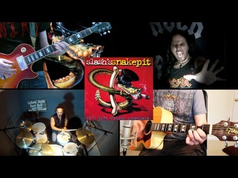 'Back and Forth Again' by Slash's Snakepit – FULL BAND COVER – by Niko, Karl, Attila Rock & Lion