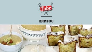 """ROBINFOOD / Sopa """"portuguesa"""" + Plum-cake de plátano y pasas al ron"""
