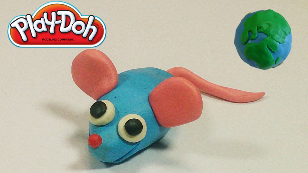 Play Doh Videos For Kids Cute Mouse Making Tutorial - YouTube