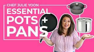 10 Essential Pots and Pans for Beginner Cooks | Chef Julie Yoon