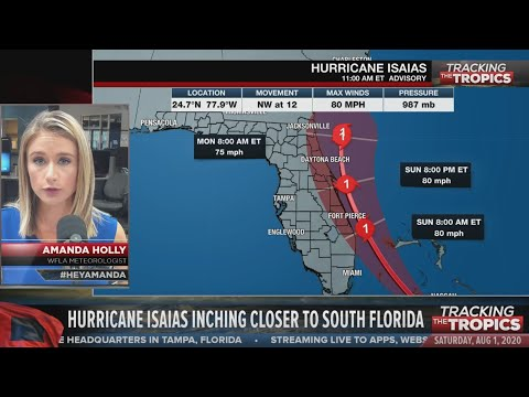 Tracking the Tropics: Hurricane Isaias to approach Florida east coast later today