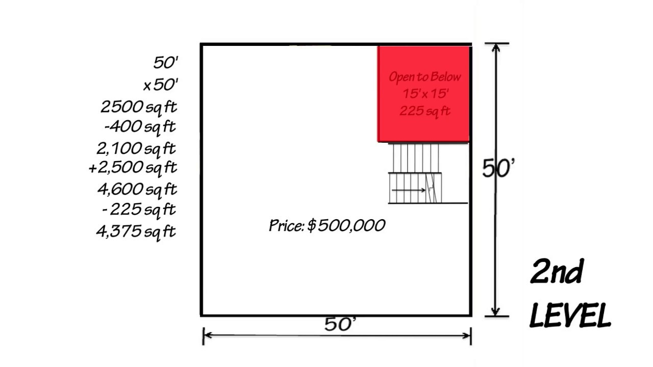 marvelous price per square foot calculator #5: How to Calculate Square Footage of a Home - www.WeBuildOnYourLot.com -  YouTube