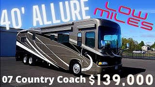 2007 Country Coach Allure 40′ in Great Condition! Has 4 Slide Outs and Less then 27,000 miles.