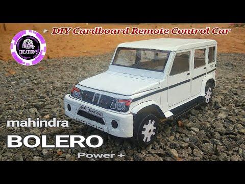 How to make a car  | Mahindra Bolero | DIY Cardboard RC Car | electric toy car.