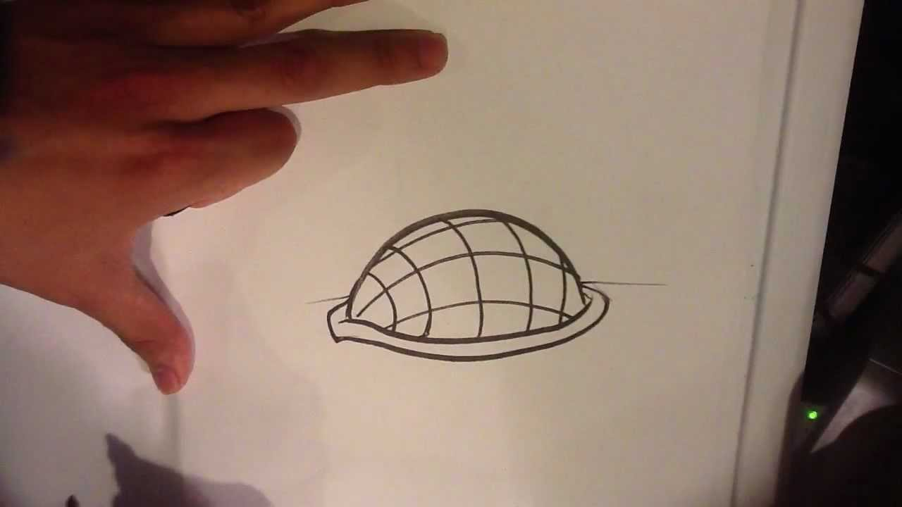 How To Draw A Turtle Shell Easy Things To Draw Youtube