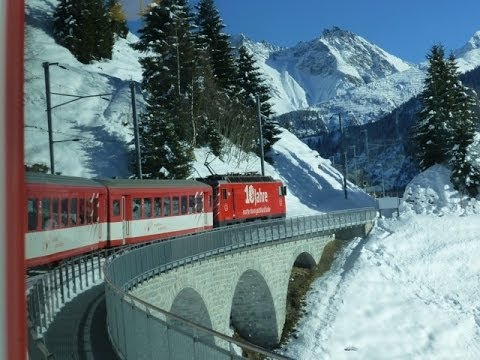 Swiss Trains: Travelling the Glacier Express route; Oberalp-Disentis