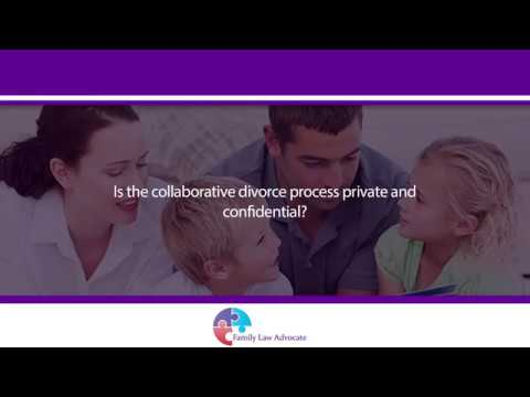 Is the collaborative divorce process private and confidential?