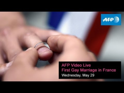 AFP Video Live: First Gay Marriage in Montpellier, France -