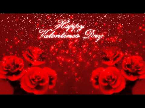 Happy Valentine's Day Glitter Background with 3D Roses Motion Graphic Free Download