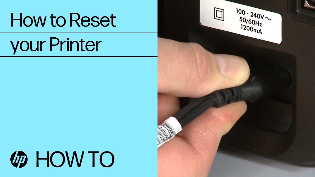 How to Reset your HP Printer  HP Printers  @HPSupport