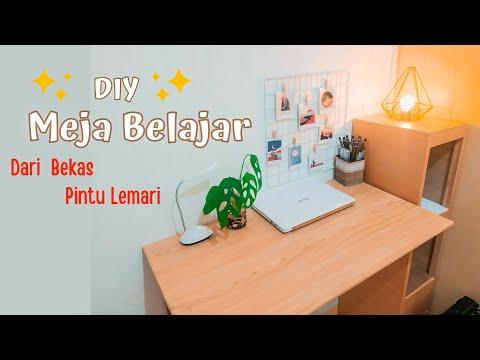 Membuat Meja Dinding Dari Kayu Meja Belajar Aesthetic Diy Meja Low Budget Membuat Meja Belajar Youtube