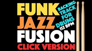 Funk Jazz Backing Track For Drums With Click Track