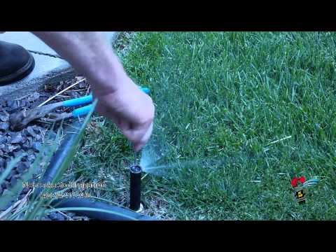 Adjusting Rain Bird Spray Head