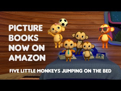 Five Little Monkeys The Book! | Wampadoo Kids Songs