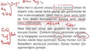 SBS Sosyal Bilgiler Dersi Konu Anlatımı   İpek Yolunda Türkler   6 Sınıf   1