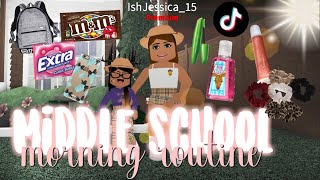 Middle School Morning Routine!♡ | Roblox Bloxburg | iiarabellaa